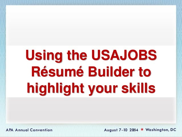 usajobs resume builder tutorial how to create an account on