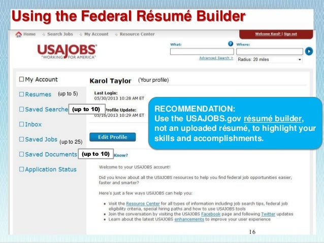 16 - Usajobsgov Resume Builder