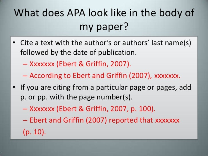 what does apa look