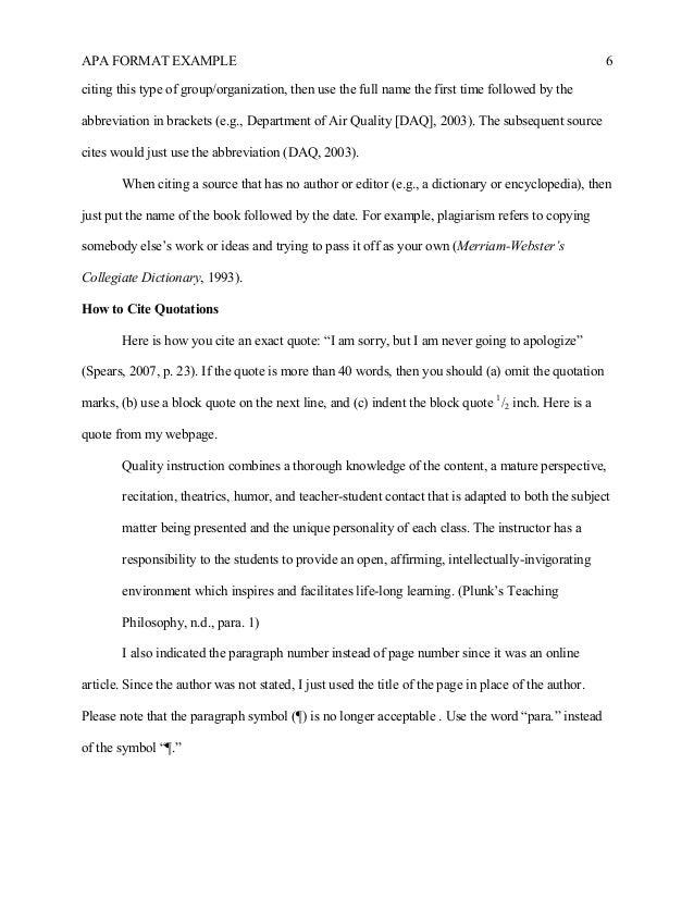 Apa 6 Style Sample Essay Outline img-1