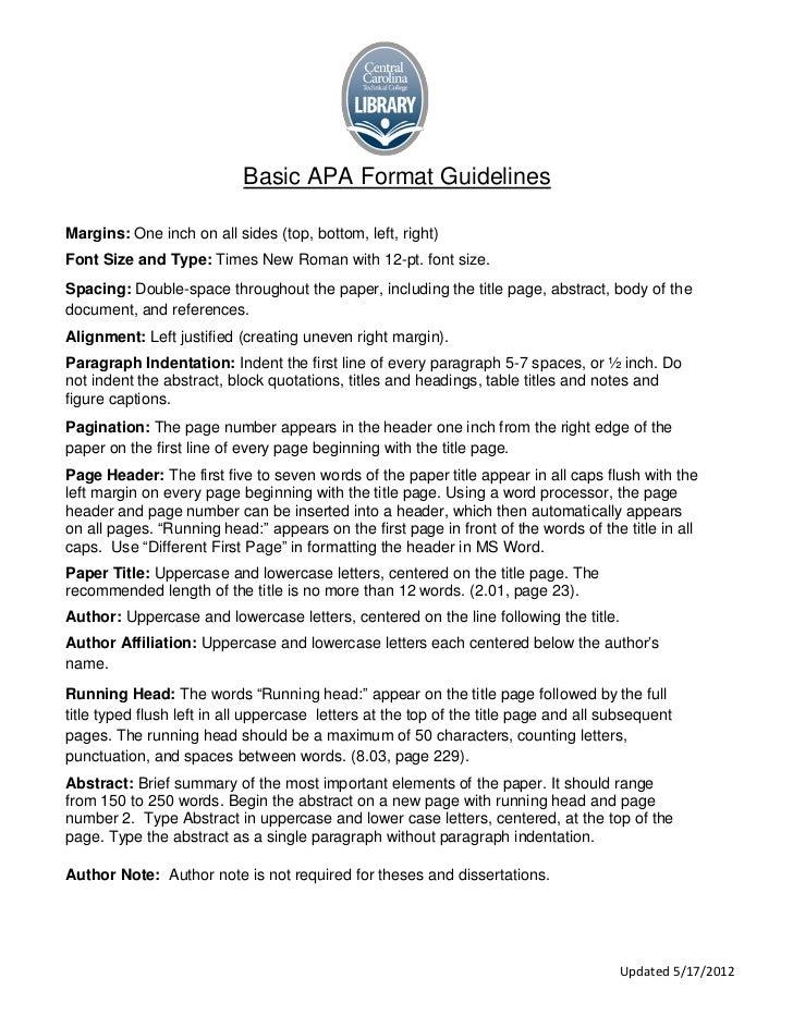 APA Info Sheet