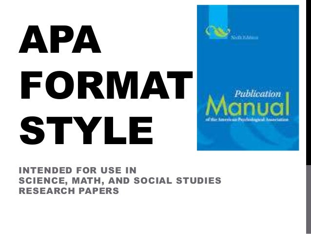 apa style powerpoint Why should i use apa shows honesty about borrowing others' intellectual  property provides evidence of your research allows readers to locate your  sources.