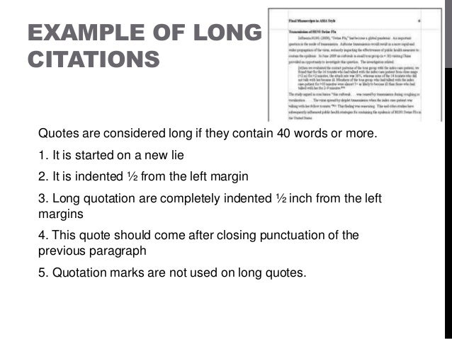 Long quotes indent essays