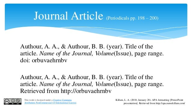 apa reference journal article