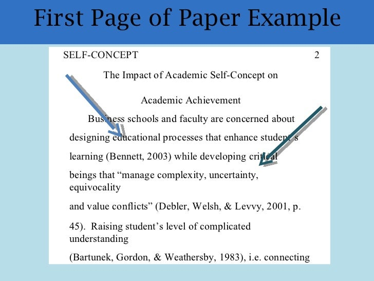 apa formatting and plagiarism take effective notes in text citations 18 first page of paper example self concept