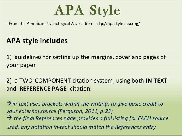 Apa format rules