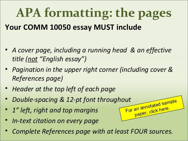 apa format for thesis paper