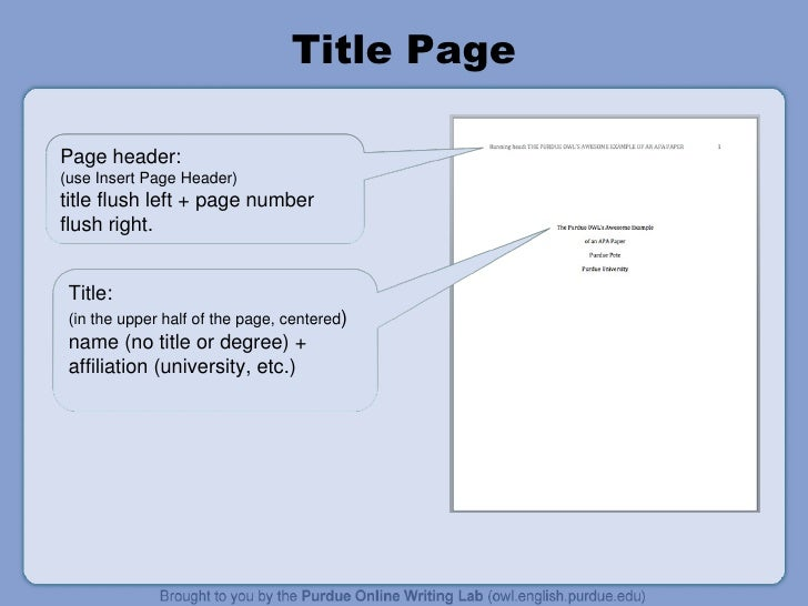 apa reference thesis owl A free and easy to use apa and mla citation generator that it's always important to cite the find more information at the purdue owl apa.