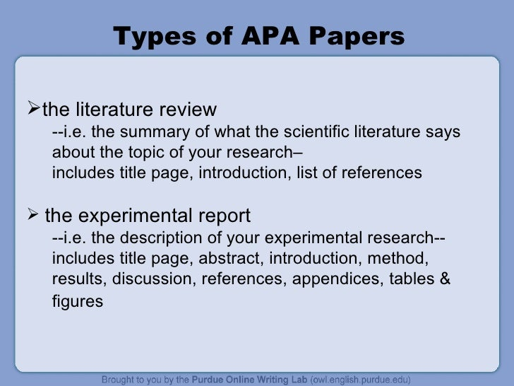 where does the literature review go in an apa paper In scientific writing, an abstract is a concise summary of a paper this quick  for  an abstract of a meta-analysis or literature review: describe.