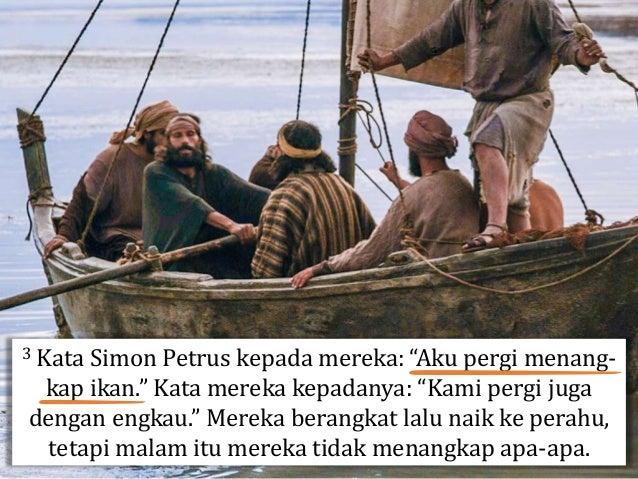"""Beberapa hari sebelumnya, Petrus menyangkal, bersumpah, dan mengutuk bahwa dia tidak kenal dengan """"orang yang kamu sebut-s..."""
