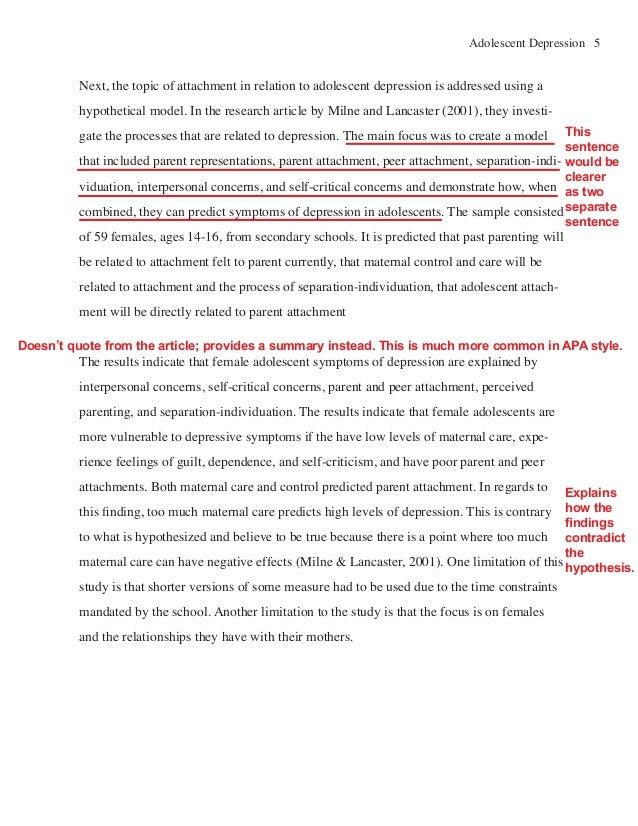 literature review sample apa