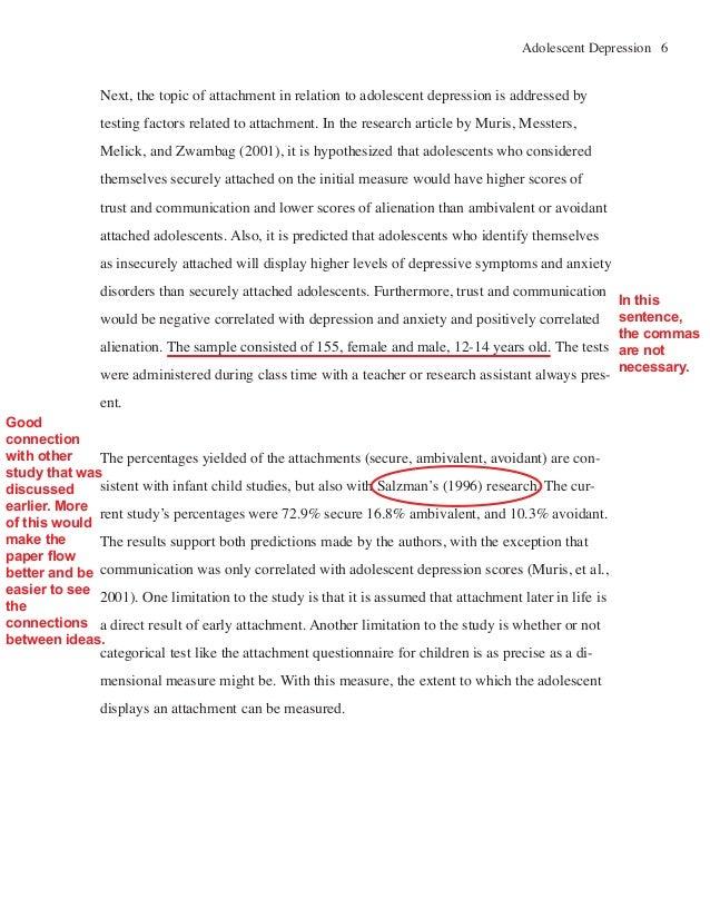 apa format literature review