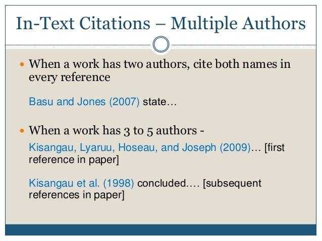 scientific article quotation different authors