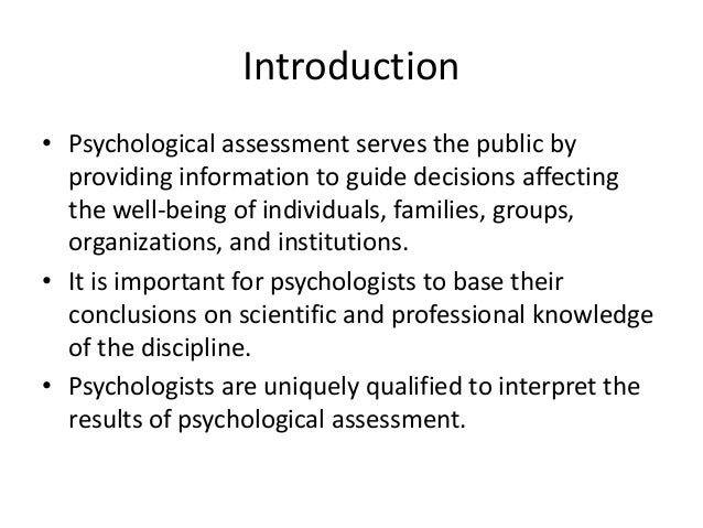 ethical issues related to psychological testing