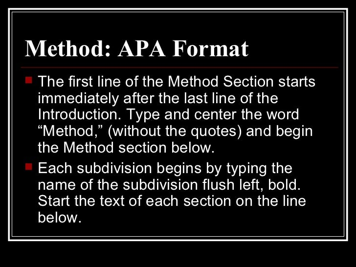 apa method