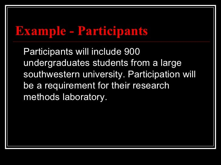 Apa method section example participants participants maxwellsz