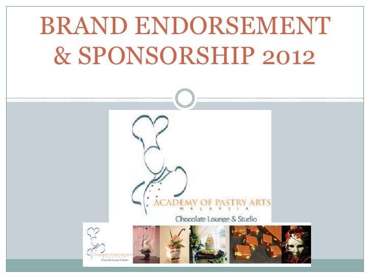 BRAND ENDORSEMENT & SPONSORSHIP 2012