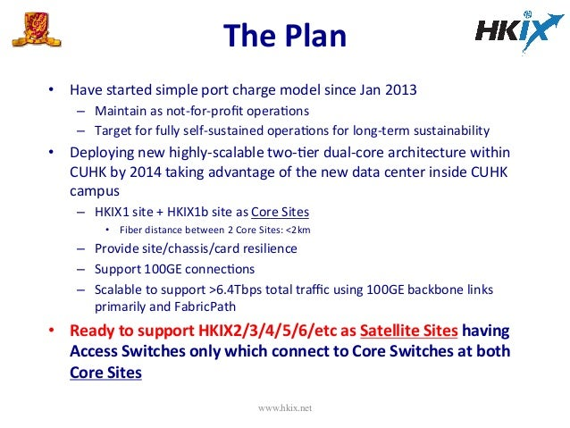 The  Plan     • Have  started  simple  port  charge  model  since  Jan  2013   – Maintain  as...