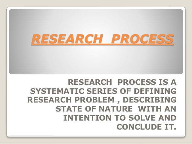RESEARCH  PROCESS  Slide 3