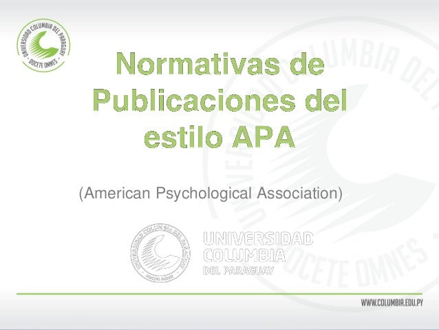 (American Psychological Association)