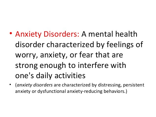 anxiety disorders persistent feeling of dread essay Do you dread the day ahead how to control that constant feeling of anxiety by lucy fry suggests one of the clearest characteristics of anxiety disorders.
