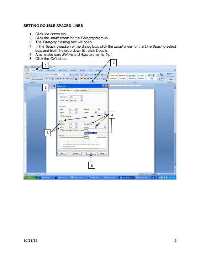 how to set up an apa paper