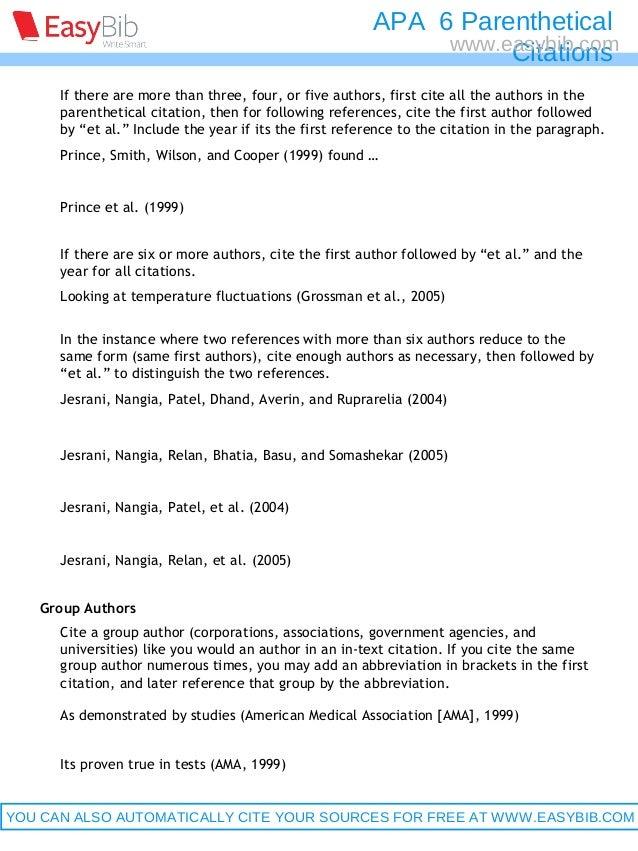 Apa parenthetical citations 6th ed ccuart Choice Image