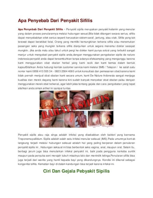 Apa Penyebab Dari Penyakit Sifilis Apa Penyebab Dari Penyakit Sifilis ~ Penyakit sipilis merupakan penyakit kelamin yang m...