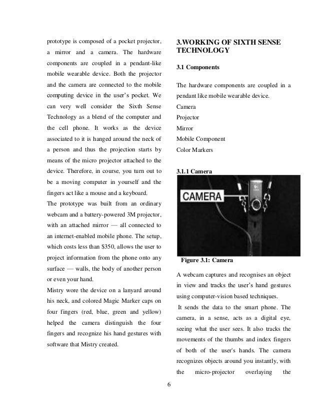 Paper presentation on sixth sense technology