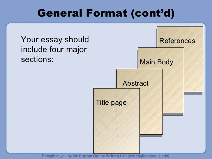 Your essay should include four major
