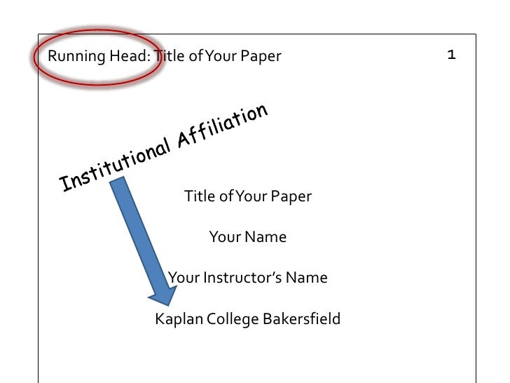 formal research paper apa style