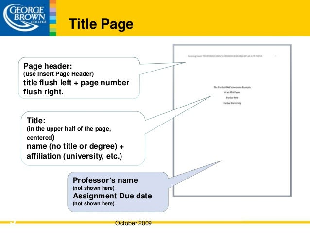 apa format without title page
