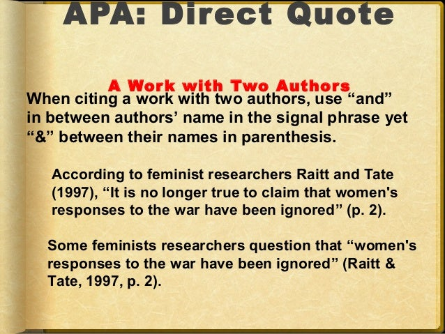 Apa powerpoint 21 apa direct quote ccuart Images