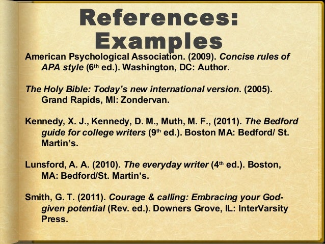 summary guide to referencing