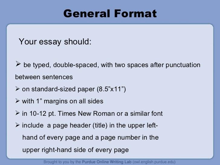 apa presentation format