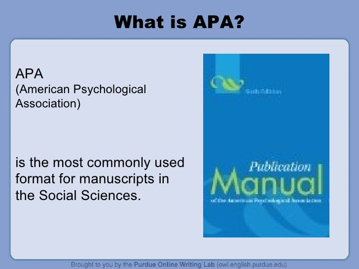 american psychological association format Guide to apa citation format 1 • the american psychological association (apa) style is commonly used to cite sources within.