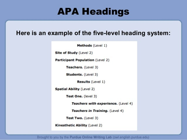 Apa writing style meaning