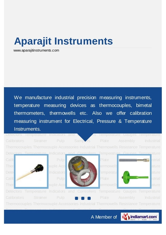 Aparajit Instruments    www.aparajitinstruments.comIndustrial Thermocouples Thermocouple Accessories Industrial Thermowell...