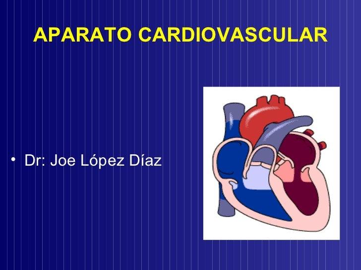 APARATO CARDIOVASCULAR <ul><li>Dr: Joe López Díaz </li></ul>