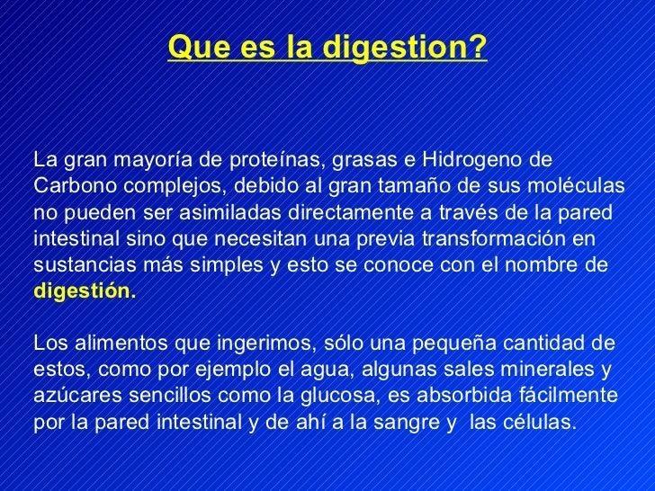 La gran mayoría de proteínas, grasas e Hidrogeno de Carbono complejos, debido al gran tamaño de sus moléculas no pueden se...