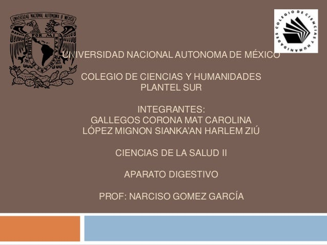 UNIVERSIDAD NACIONAL AUTONOMA DE MÉXICO COLEGIO DE CIENCIAS Y HUMANIDADES PLANTEL SUR  INTEGRANTES: GALLEGOS CORONA MAT CA...