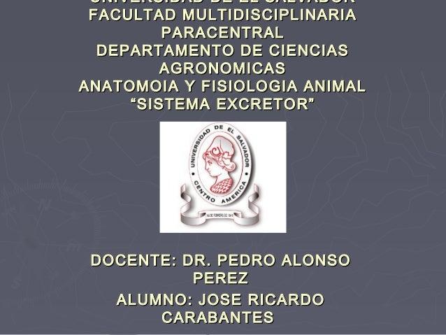 UNIVERSIDAD DE EL SALVADOR FACULTAD MULTIDISCIPLINARIA         PARACENTRAL  DEPARTAMENTO DE CIENCIAS         AGRONOMICASAN...