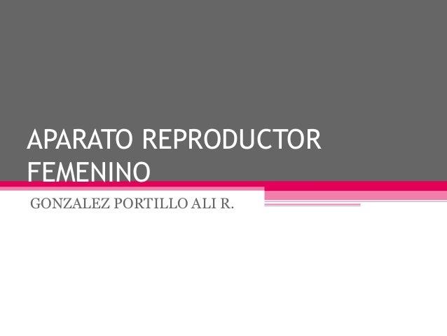 APARATO REPRODUCTOR FEMENINO GONZALEZ PORTILLO ALI R.
