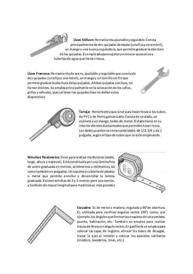 Aparatos sanitarios y herramientas a utilizar para su for Herramientas que se utilizan en un vivero
