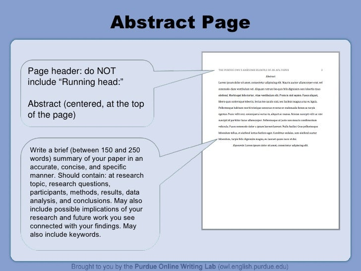 Sample Apa Paper Abstract Page