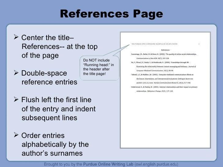apa citation title page
