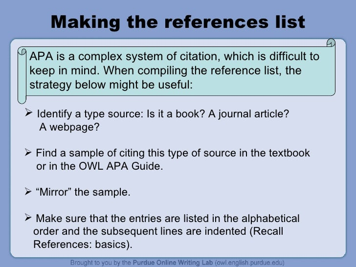 RESEARCH WRITING - Apa References Style