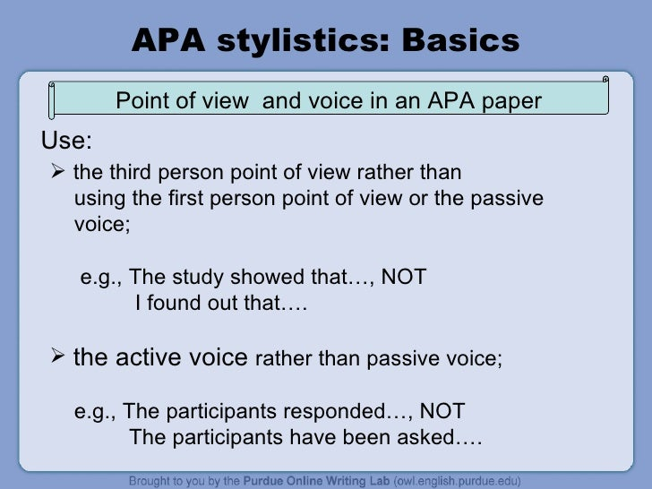 Writing in Third Person in APA Style