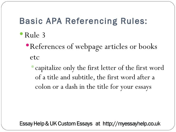 when mentioning an article in an essay apa