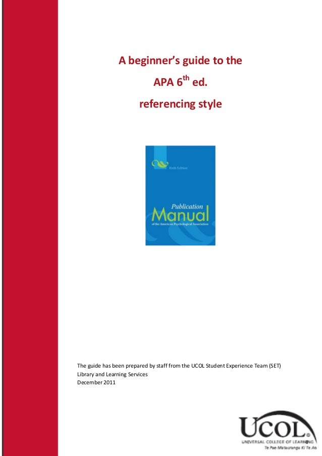 apa 6th edition referencing a dissertation Easybib helps you create a bibliography or works cited would you like to create a dissertation citation in mla7 6th edition of apa, and 16th edition of.
